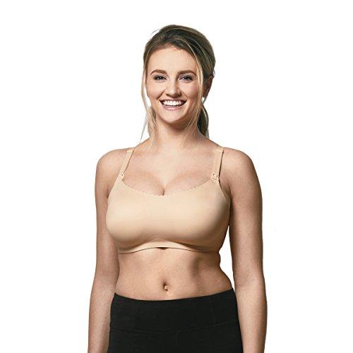 Bravado Designs Womens Invisible Maternity Bra and Nursing Bra, X-Large, Bare