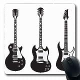 Jamron Mousepad OblongFebruary Metal Modern 10 2018 Gibson Set Jazz Classical Electric Black Black Objetos Paul Guitar Antideslizante Goma Mouse Pad Alfombrilla de oficina Ordenador portátil Juegos Ma