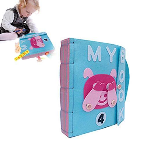OUTEYE DIY Libro Quiet Fieltro Libros de bebé temprano del Desarrollo cognitivo Juguetes Hechos a Mano Libro Educativo para Bebé