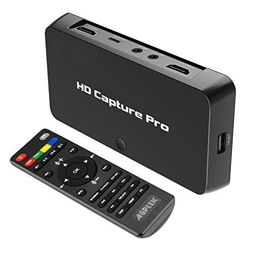 MYPIN Game Capture Boîtier d'Acquisition Video HD 1080p HDMI Enregistreur YPBPR pour Xbox 360 et One / PS3 PS4 / Nintendo Switch/Nintendo Wii U etc (Enregistrement Indépendant, VG0072)