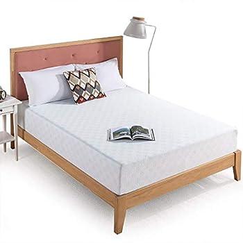 Zinus 10 Inch Gel-Infused Green Tea Memory Foam Mattress / Cooling Gel Foam / Pressure Relieving / CertiPUR-US Certified / Bed-in-a-Box Full