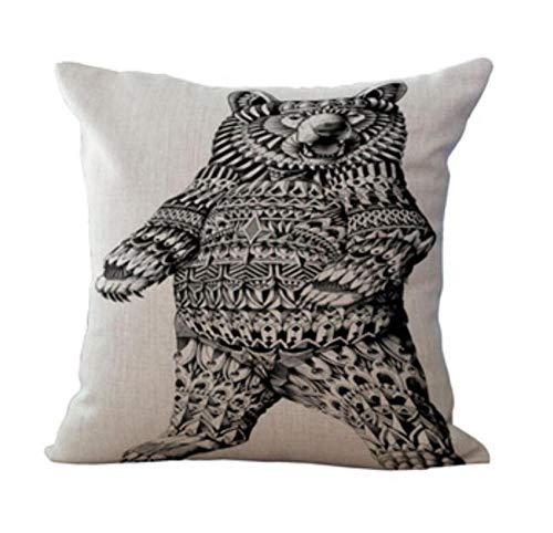 2 kussens mode hoogwaardige dieren olifanten neushoorn uil pauw zebra auto decoratief sierkussen case kussensloop sofa wooncultuur 45 * 45 cm