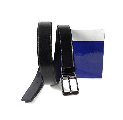 NILO Cinturón hombre piel clásico reversible negro - azul marino Miguel Bellido con hebilla...