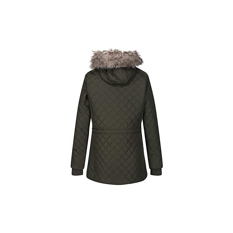Regatta Women's Zella Insulated Quilted Lined Jacket With Detachable Hood Jacket