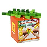 Wise Elk Construction Pixel Set Cubika World, Wooden Toy for Kids from 7 Years Old, Colorful Educational Wooden Set, Eco-Friendly Toy for Boys and Girls.