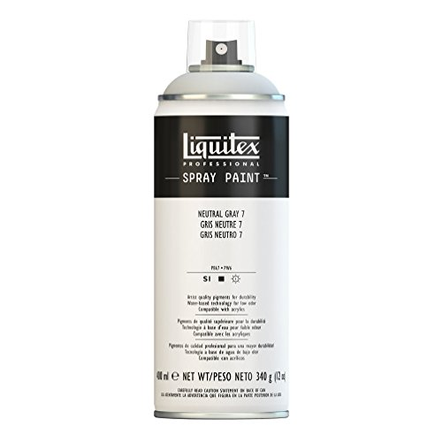 Liquitex Professional Spray Paint - Acrylfarbe, Farbspray auf Wasserbasis, lichtecht, Neutralgrau Nr. 7, 400ml Acrylspray