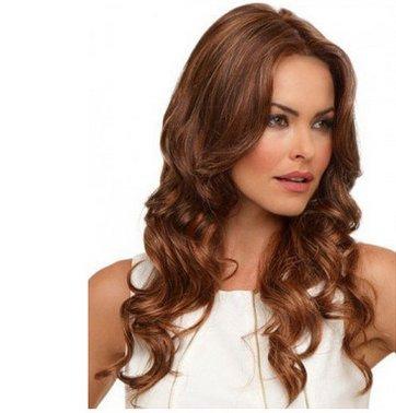 ahom (perruque Noble Fluffy Mesdames Wave perruque A perruque Perruques européenne haute température Fil perruque longue cheveux bouclés Perruques