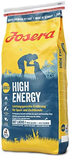 JOSERA High Energy, Hundefutter mit hohem Energiegehalt für Sporthunde, Super Premium Trockenfutter für ausgewachsene Hunde, 1er Pack (1 x 15 kg)