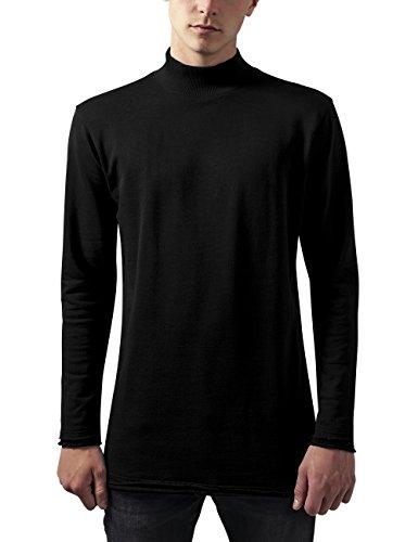 Urban Classics Herren Long Open Edge Turtleneck Crew Sweatshirt, Schwarz (black 7), Large