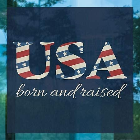 5-Pack Square Window Cling CGSignLab Born and Raised 12x12