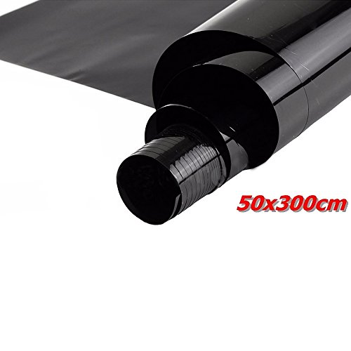 E Support 50cm * 3m 35% VLT schwarz pro Glasfenster Tönungsfolie Rollen Auto Zuhause Büro Fenstertönung