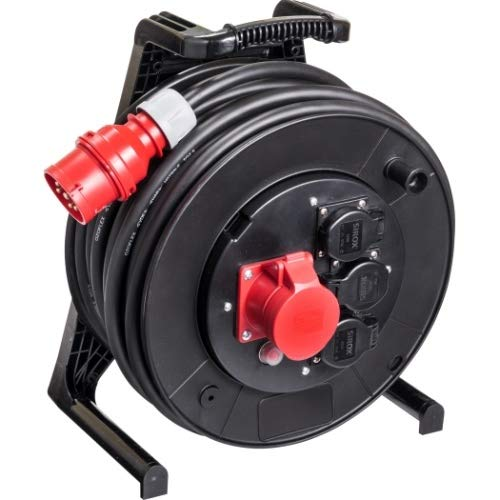JUMBO® L CEE-Kabeltrommel 400 V mit 3 Steckdosen H07RN-F Länge 25 m