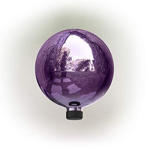 Alpine Corporation 10' Indoor/Outdoor Glass Gazing Globe Festive Yard Décor, Purple
