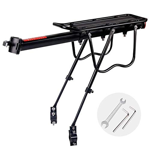 Z1 Jkc Bike Rack Carrier for Panniers Bags Aluminum Alloy Adjustable Mountain Bicycle Back Seat for 20-29 Inch Bikes