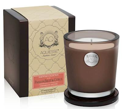 PASSION FRUIT CITRUS 11oz Aquiesse Collection Gift Boxed Scented Soy Candle