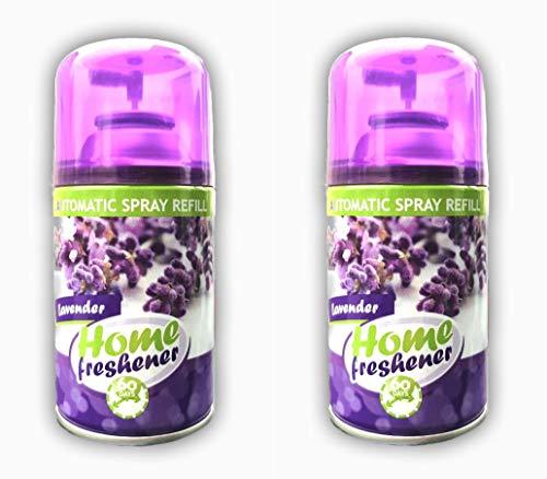 Home-Freshener Lavendelduft Freshmatic Max Automatisches Duftspray Nachfüller, PURE Frühlingsfrische, Duo-Pack (2x300ml)