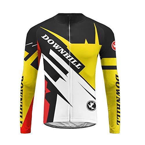 Uglyfrog SLJ19 Mens Cycling Jerseys, Long Sleeve Cycle Tops, Mountain Bike/MTB Shirt, Reflective Biking Bicycle Clothes, Great Cyclist Gifts -High Visible and Quick Dry