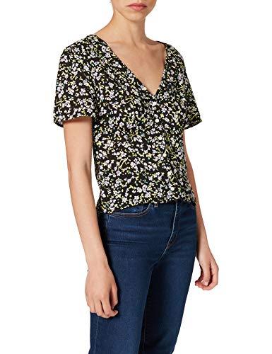 Tommy Jeans Damen TJW FLORAL Print Blouse Hemd, Blumenmuster, Small