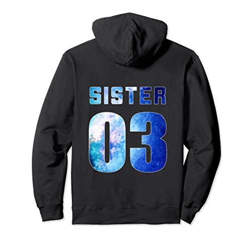 Sister 01 Sister 02 Sister 03 & Sister 04 BFF Freundschafts Pullover Hoodie