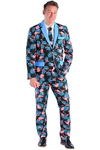 Men's Tall Martini Suit Pants - Flamingo Martini Suit Pants for Guys