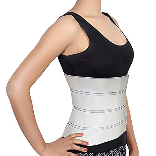 """Abdominal Binder Support Post-Operative, Post Pregnancy And Abdominal Injuries. Post-Surgical Abdominal Binder Comfort Belly Binder (Medium (46"""" - 62""""), 9"""" High)"""
