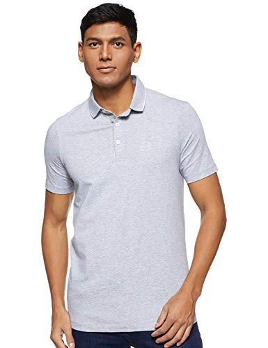 Armani Exchange Herren 8NZF70 Poloshirt, Grau (B09B Heather Grey 3929), One Size (Herstellergröße: XXL)