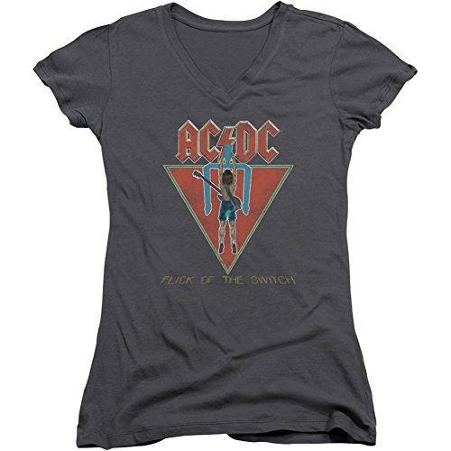 AC/DC Flick of The Switch - Camiseta para niño, color gris