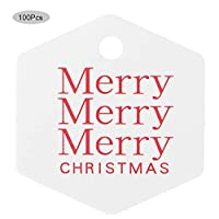クリスマスデコレーションクリスマスペンダントデコレーション家族のパーティーの誕生日パーティーのための無味で味のない明るい色のクリスマスタグクリスマスデコレーション(White hexagon)