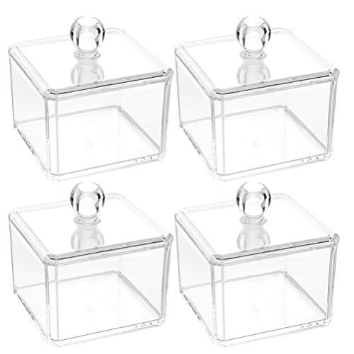 Cabilock 4 Stück Mini Klare Acryl Box Transparente Süßigkeiten Geschenketui Make-Up Kosmetische...
