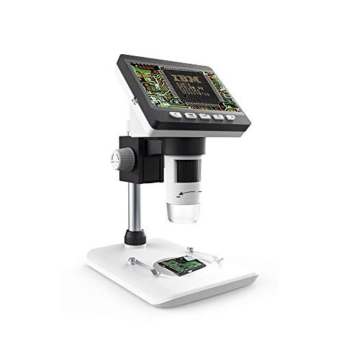 1000X LCD-Digitalmikroskop, Bysameyee-4,3-Zoll-HD-Lupe mit Foto- / Videoaufnahme, 8 wiederaufladbare USB-2MP-Inspektionskamera, kompatibel für Windows Mac PC