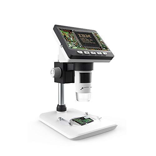 Microscopio digitale LCD 1000X, Lente d'ingrandimento HD da 4 pollici Bysameyee con acquisizione foto/video, fotocamera USB ricaricabile da 2 MP ricaricabile da 8 LED compatibile per Windows Mac PC
