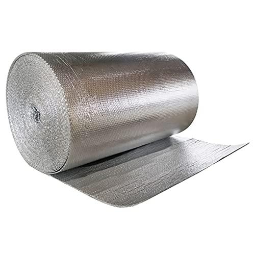 Aislamiento Termico Aluminio Reflexivo, Aislante Térmico, Lámina Térmica Rollo, Aislamiento Termico Autoadhesivo, Ideal para Paredes Caravanas y Áticos Aislamiento Termico Alumin(Size:1x5m/3.2x16.4ft)