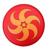 BangShou Frisbee per Bambini Morbido PU Frisbee Ispessito Frisbee con Motivo a Cartoni Animati per Sport (Fiamma Rosso)