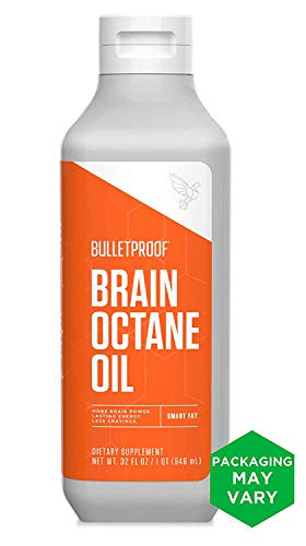 Bulletproof Brain Octane MCT Oil, Perfect for Keto and Paleo Diet, 100% Non-GMO Premium C8 Oil, Ketogenic Friendly, Responsibly Sourced from Coconuts Only, Made in The USA, 32 Fl Oz