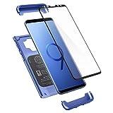 Spigen Funda Thin Fit 360 Compatible con Samsung Galaxy S9 - Coral Azul