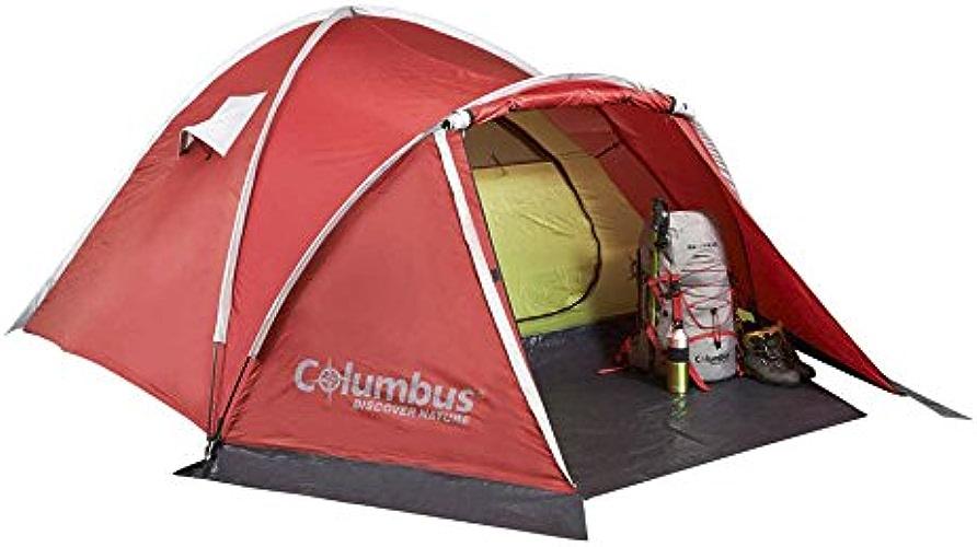 COLUMBUS Thames 3 Tente de Camping pour 3 Personnes Mixte Adulte, Rouge, Unique