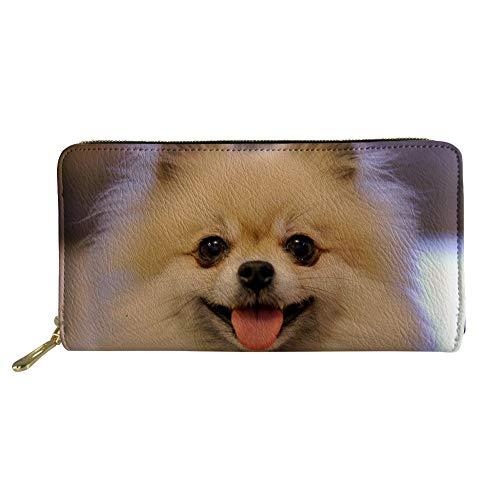 Hugs Idea Damen Portemonnaie mit Tiermuster, großes Fassungsvermögen Gr. Einheitsgröße, Pomeranian 9