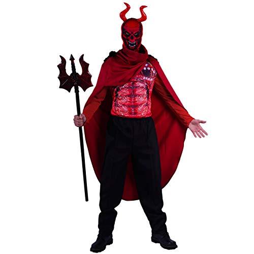 SEA HARE Disfraz de Diablo Rojo para Hombre Adulto