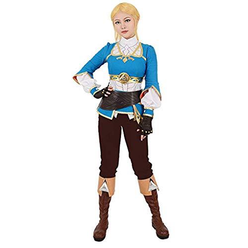 Frauenatem Wild Princess Cosplay Kostüm The Legend of Zelda Die Wildnis der Prinzessin Zelda Casual Cosplay Kostüm (Color : Blue, Size : M)