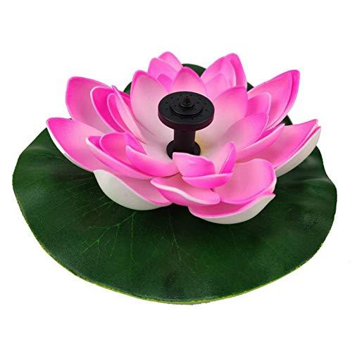 Glossia Rosa Solar Lotus Brunnen Lotus Flower Brunnen Brunnen Wasser Pumpe Hof Landschaft Farben Garten Brunnen Teich Solar