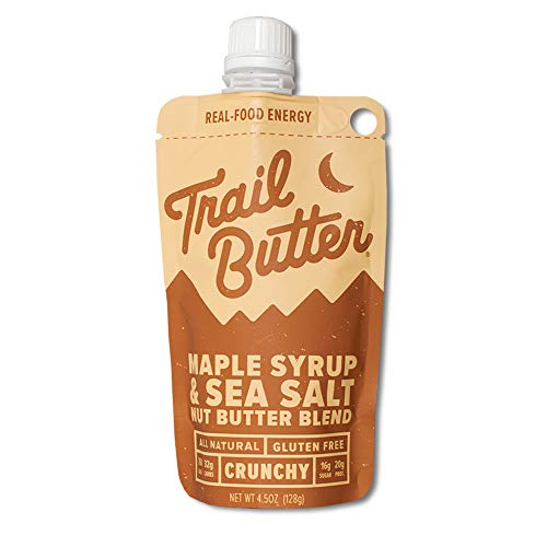 Trail Butter, Big Squeeze 6-Pack Almond Butter Blend (4.5oz/each), Maple Syrup & Sea Salt Blend
