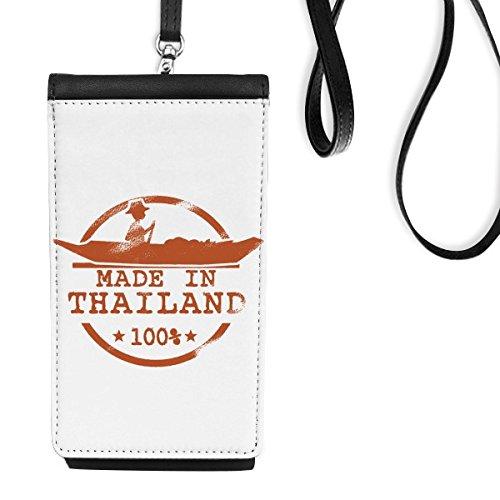 DIYthinker Reino de Tailandia Thai costumbres Tradicionales Hacer En Tailandia Kayak Ejemplo del Arte de imitación de Cuero Smartphone Colgando Monedero de teléfono