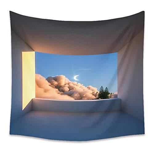 WERT Paisaje Colgante de Pared Tapiz Decoración para el hogar Fotografía de Fondo Paño Playa Manta de Picnic para Sala de Estar Dormitorio Dormitorio A11 200x150cm