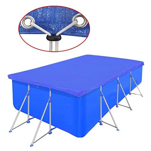 vidaXL Cubierta Piscina Rectangular PE Azul 540x270cm Toldo