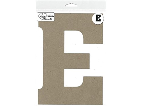 "Accent Design Paper Accents Chip Letter 1pc ChipLet 8"" E NAT"