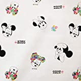 Disney Cotton Fabric Character Fabric by The Yard 110cm Wide SG Floral Minnie Mouse