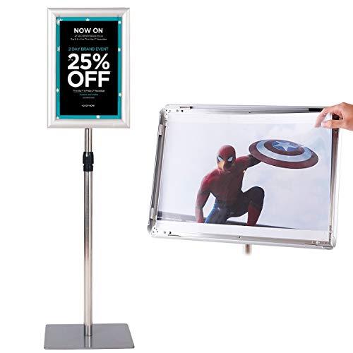 COSTWAY Infoständer Informationsständer Plakatständer Kundenstopper Präsentationsständer Plakat Aufsteller Ständer Werbeständer A4 höhenverstellbar drehbar schwenkbar (silber)