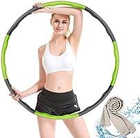 Hoola Hoop zur Gewichtsreduktion,Reifen mit Schaumstoff,Einstellbar Breit 48–88 cm beschwerter Hoola-Hoop-Reifen für...
