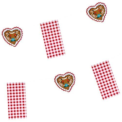 PAPSTAR Flaggenkette Hüttengaudi, rot weiß aus Papier, Länge: 4 m, Maße der Flaggen: 120 x 235 mm - 1 Stück (87410)