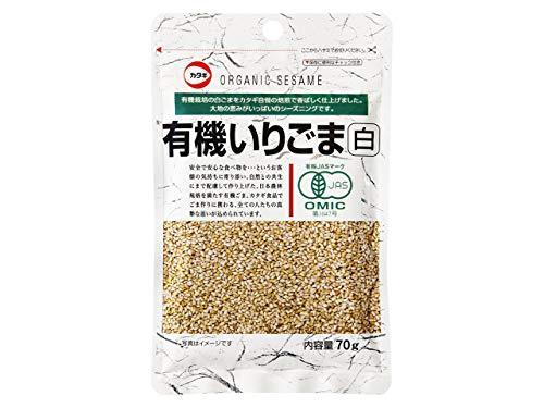 カタギ食品 有機いりごま 白 袋70g [3047]